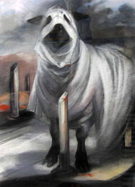 3020: PATRICIA TRAUB, (AMERICAN 20TH CENTURY), SHEEP