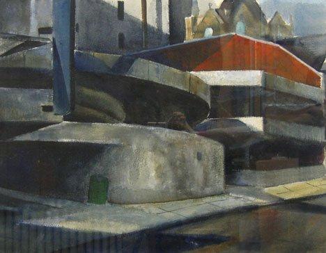 3024: CHARLES TAYLOR, (AMERICAN B. 1910), STREET WITH B