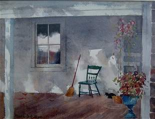 RANULPH BYE (American b.1916) CATS AND HANGING BASK