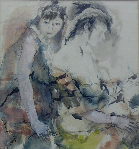6: HENRY CLARENCE PITZ (American 1895-1976)  TWO WOMEN