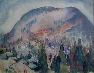 BERNARD BADURA (American 1896-1986) ROUND TOP NO. 1