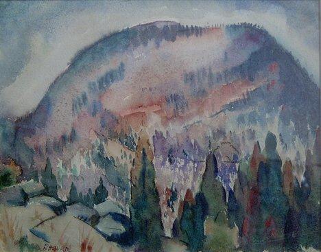 7: BERNARD BADURA (American 1896-1986)  ROUND TOP NO. 1
