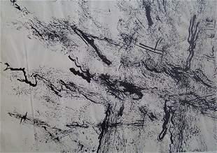 ABRAHAM HANKINS (American 1900-1963) UNTITLED ink