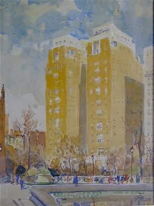 JOHN J. DULL (American 1859-1949) PHILADELPHIA SCE