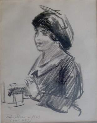 "JOHN SLOAN (American 1871-1951) GOSSIP"" inscribed"