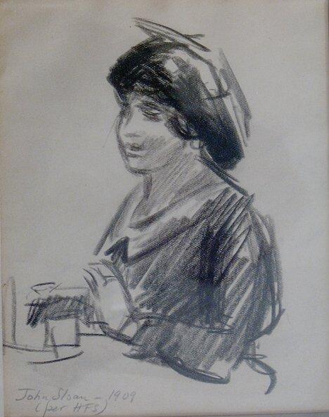 "12: JOHN SLOAN (American 1871-1951)  GOSSIP""  inscribed"