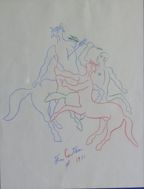 19: JEAN COCTEAU (French 1889-1963)  FIGHTING CENTAURS