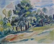 20: LEON KELLY (American 1901-1982) SPRING LANDSCAPE