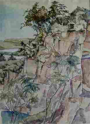 BERNARD BADURA (American 1896-1986) ALONG THE DELA