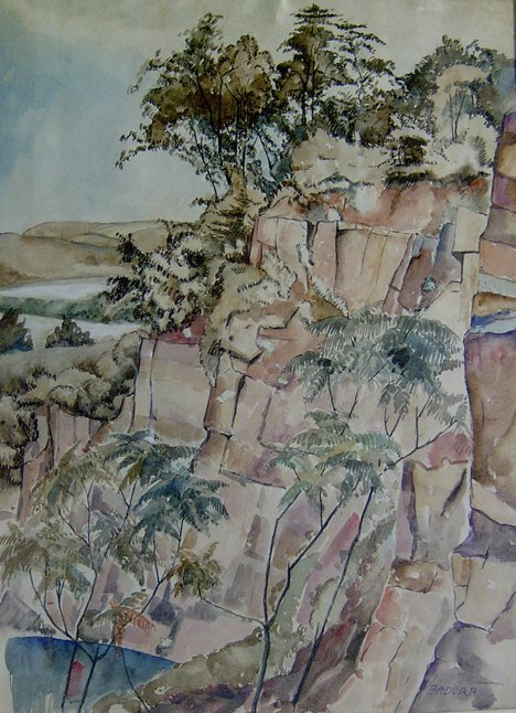 23: BERNARD BADURA (American 1896-1986)  ALONG THE DELA