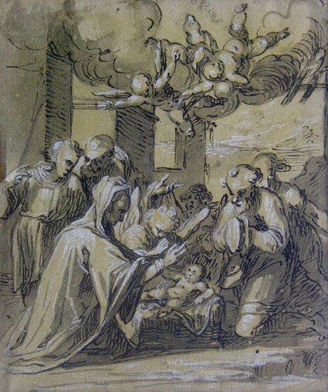 24: ITALIAN SCHOOL (17th-18th Century)  ADORATION OF TH