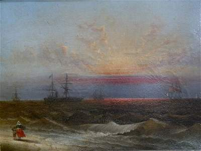 142: ATTRIBUTED TO JAMES HAMILTON (American 1819-1878)