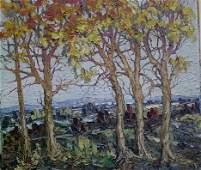 338: LEONID GECHTOFF (American 1883-1944) TREES IN AUT