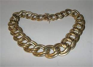ITALIAN 14K YELLOW GOLD NECKLACE Composed of grad