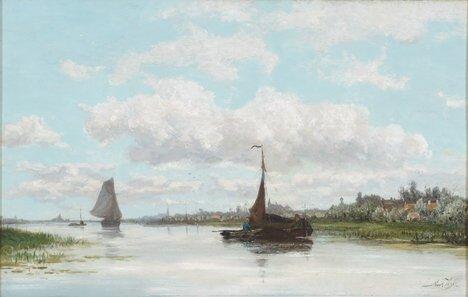 2015: MARIUS HEYL (Dutch 1836-1931)  RIVER AMSTEL, AMST