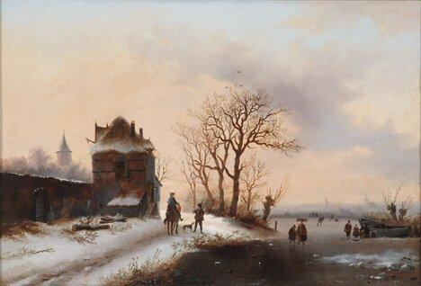 2016: ALEXIS DE LEEUW (Belgian 19th Century)  WINTER SC