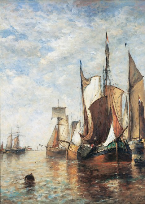 2018: PAUL JEAN CLAYS (Belgian 1819-1900)  ON THE ZUYDE