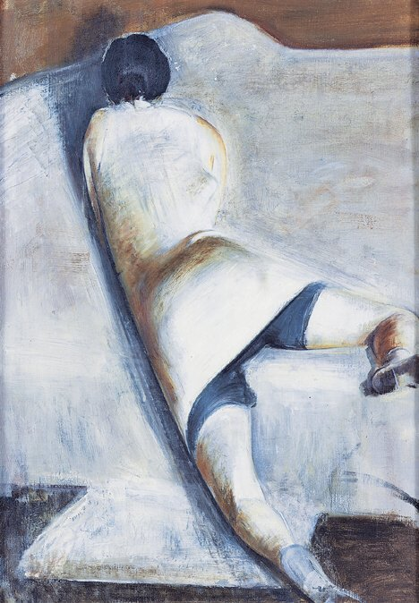 2144: LEE GATCH (American 1902-1968)  STUDY IN WHITE, 1