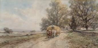 2169: FRANK F. ENGLISH (American 1854-1992) THE HAY WA