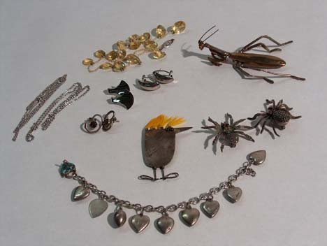 3009: ASSORTED SILVER & CITRINE JEWELRY 20th c. Featuri