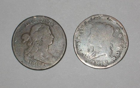 4: 1802 & 1812 U.S. Large Cent, , 1802 AG and 1812 VG.