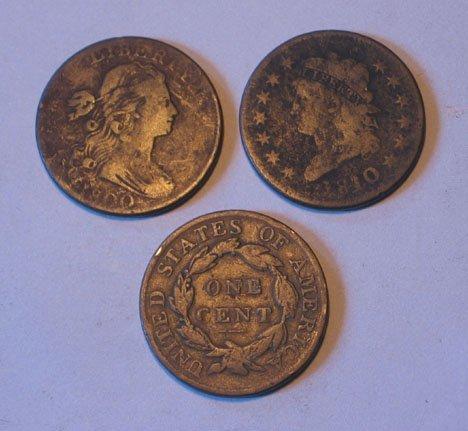5: Twenty-Four U.S. Large Copper Cents, , 1810 VG, 1812