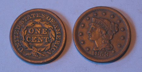 7: Thirty-One U.S. Large Copper Cents, 1840-1857, 1840