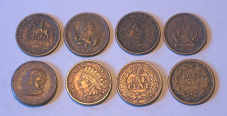 11: Eighty seven U.S. Indian Head Cents and Civil War T