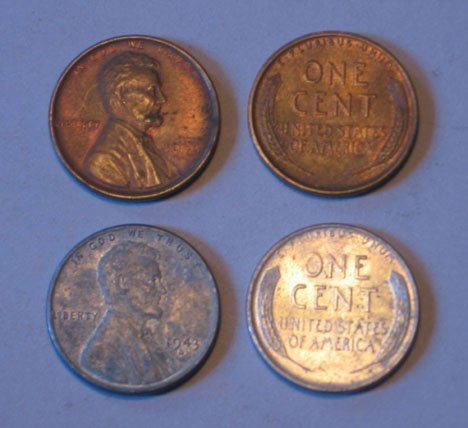 14: Two 1909 and five 1909 'VDB' US 'Lincoln Head' cent