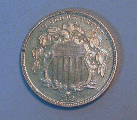 17: 1868 Shield Nickel, ,