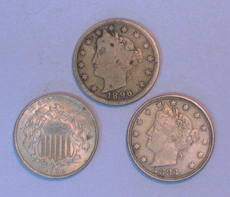 18: U.S. 'Shield' Nickels and Liberty Head Nickels, , 1