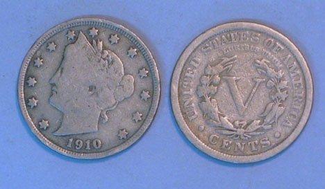 """18A: 55 U.S. V"""" nickels, 19th & 20th century, ,"""""""