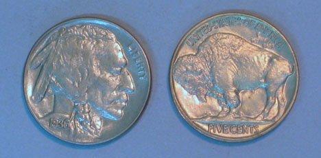 "19: Thirty U.S.  Buffalo"" Nickels, , Shield 1882 F,1883"