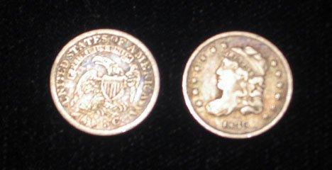 22: Seventeen U.S. Half Dimes, 1829 - 1847, 1829 VG, 18