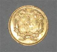 88: 1859 U.S. gold dollar, type III, ,