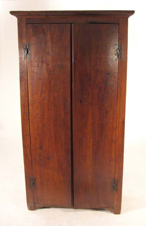 2004: Continental walnut armoire, possibly italian, 18t