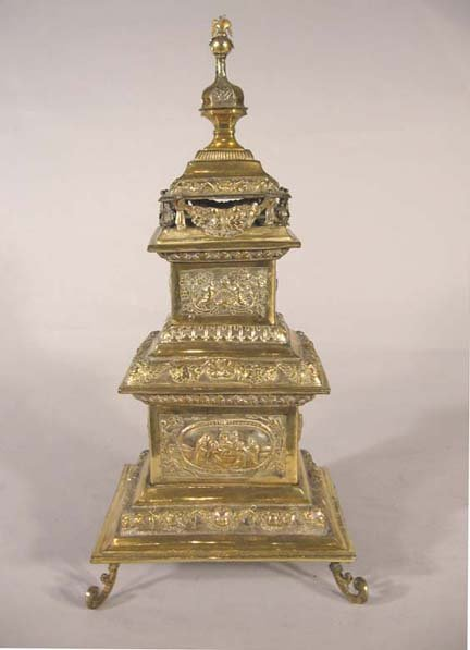 2490: Continental silver gilt plated spice tower, , The