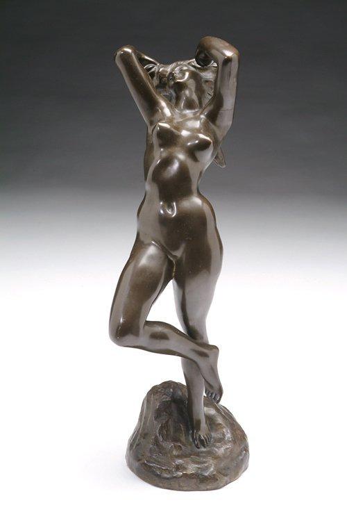 2581: J. Lambaux (French 19th/ 20th century), female nu
