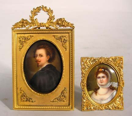 2585: Two Berlin porcelain plaques, late 19th century,