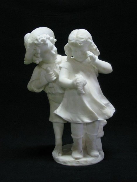 2601: Italian alabaster figure group, early 20th centur