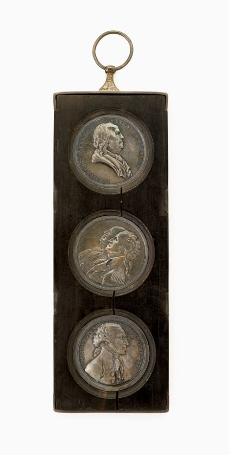 """1: Three silver History of the Revolution"""" medals"""