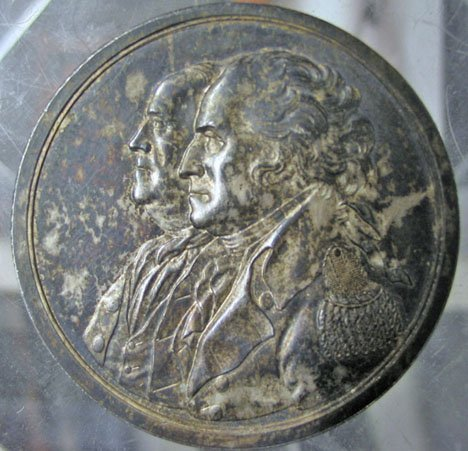 2: Silver 'History of the Revolution Medal, designed by