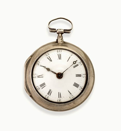 7: Silver and gold pocket Watch, john carrell, philadel