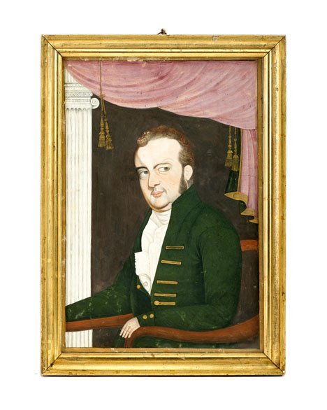 12: Anglo-American School 19th century, portrait of a s