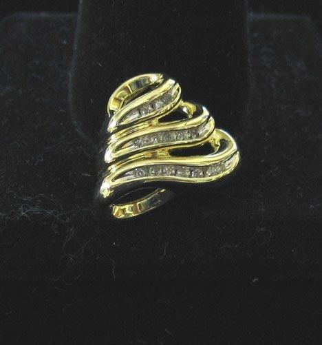 1022: 10k Yellow Gold and Diamond Enhanser, , The styli