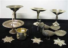 1105: Nine piece Sterling and Silver Group, , Including