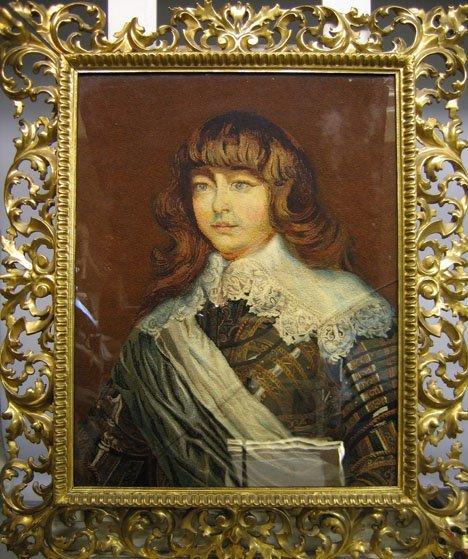 2410: PORTRAIT OF A NOBLE MAN, , Embroidery in decorati