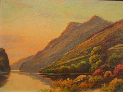 "2416: THOMAS C. BLAKE (AMERICAN, 1890) THE LOCH"", , Sig"