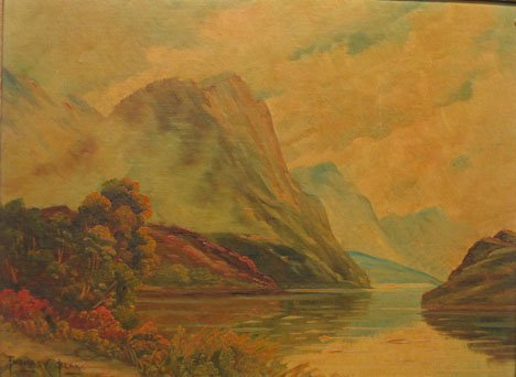 "2417: THOMAS C. BLAKE (AMERICAN, 1890) MOUNTAIN MISTS"","