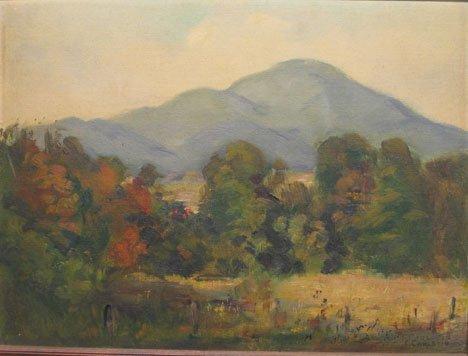 2422: C. CARLETON - LANDSCAPE WITH MOUNTAIN, , Signed C